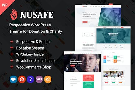 Nusafe | WordPress Theme for Donation & Charity