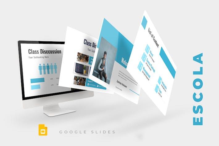 Cover Image For Escola - Google Slides Presentation
