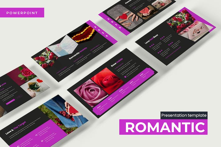 Thumbnail for Romantic - Powerpoint Template