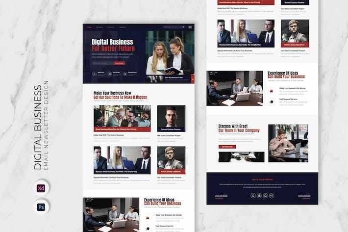 Thumbnail for Digital Business Email Newsletter