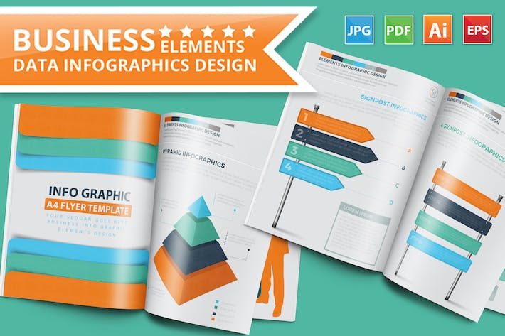 Thumbnail for Business Infographics 15 Pages Design Part 2