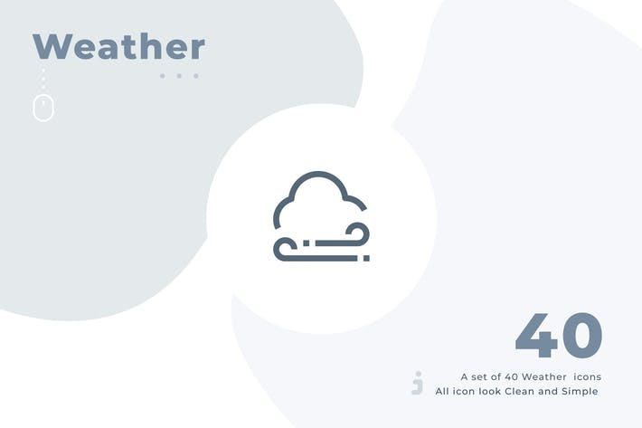 Thumbnail for 40 Weather icon set - Material