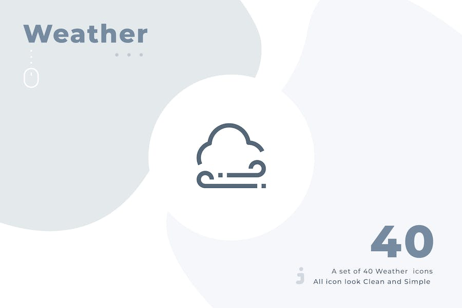 40 Weather icon set - Material