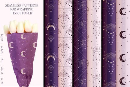 Abstract Seamless Background Patterns Collection.