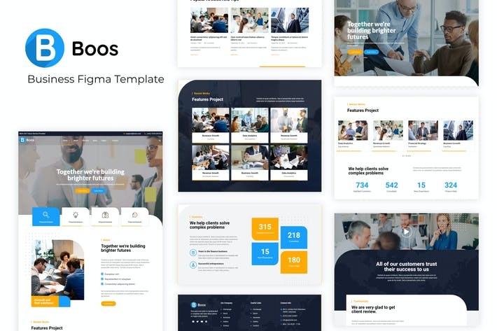 Thumbnail for Boos - Business Figma Template