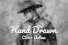 Hand Drawn CS4+ Photoshop Action
