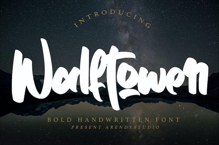 Thumbnail for Walftower - Fuente manuscrita en negrita