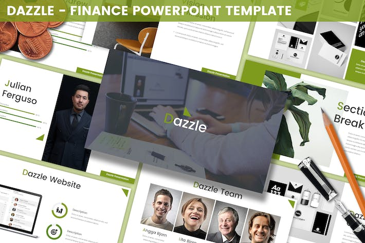 Thumbnail for Dazzle - Finance Powerpoint Template