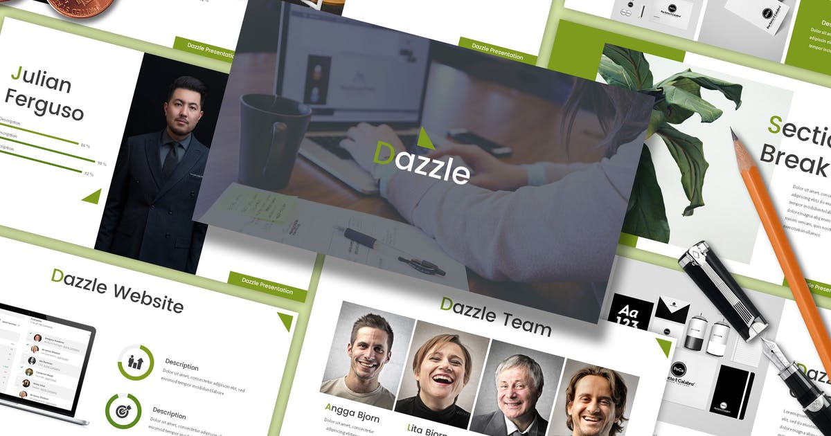 Download Dazzle - Finance Powerpoint Template by SlideFactory