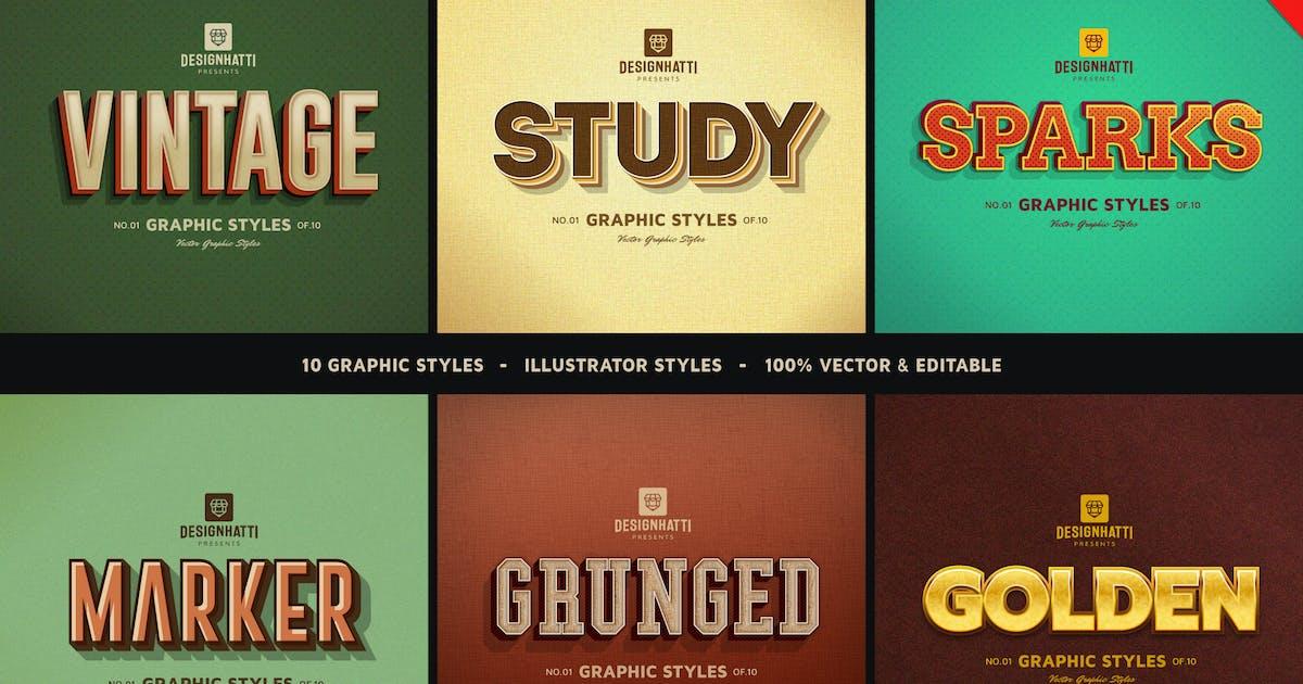 Download Retro Vintage Text Styles Vol.02 by designhatti