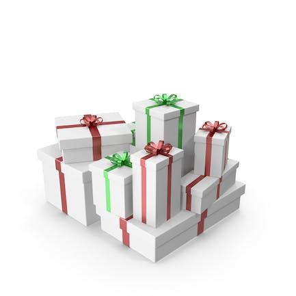 Weiße Geschenkboxen