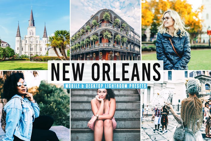 Thumbnail for New Orleans Mobile & Desktop Lightroom Presets