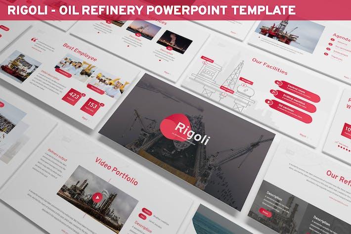 Thumbnail for Rigoli - Шаблон Powerpoint нефтеперерабатывающего завода
