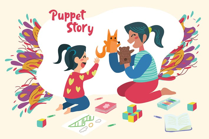 Thumbnail for Puppet Story - Vector Illustration