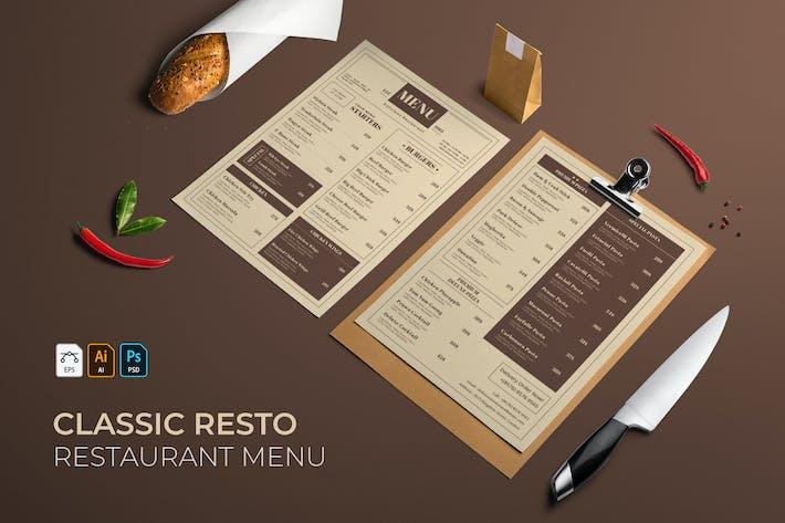 Thumbnail for Classic | Restaurant Menu