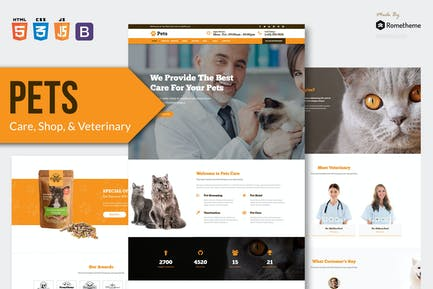 PETS - Pet Care and Veterinary HTML Template RS