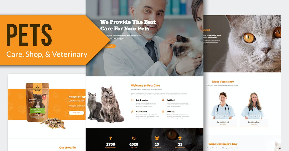 Download PETS - Pet Care and Veterinary HTML Template RS by Rometheme
