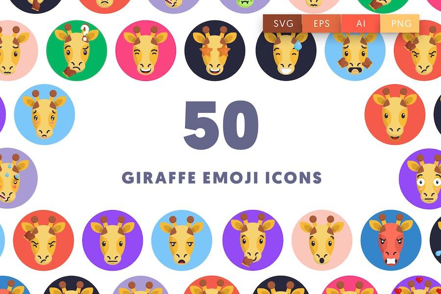 50 Giraffe Emoji Icons