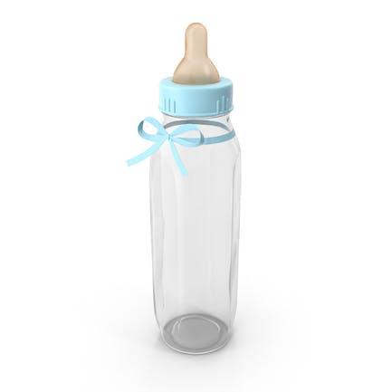Empty Blue  Baby Bottle