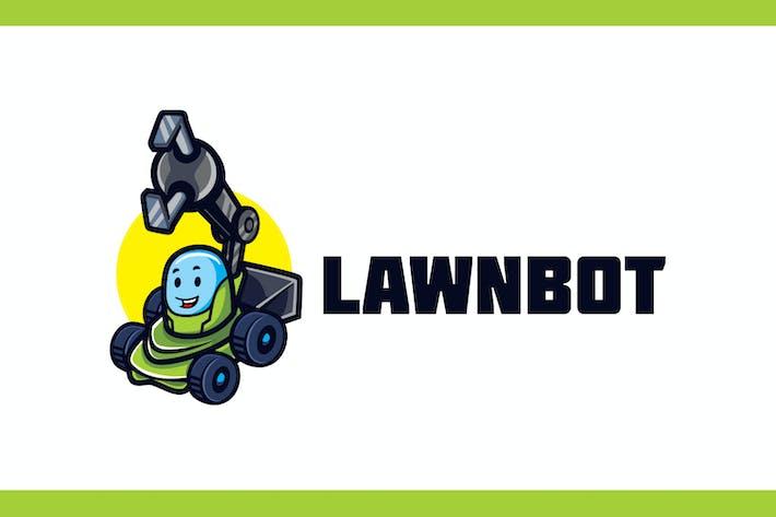 Thumbnail for Cartoon Lawn Robot Mascot Logo