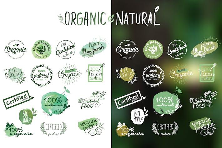 Thumbnail for Autocollants et badges de produits biologiques
