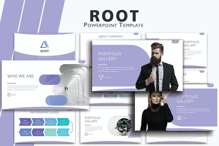 Thumbnail for ROOT - шаблоны презентаций Powerpoint