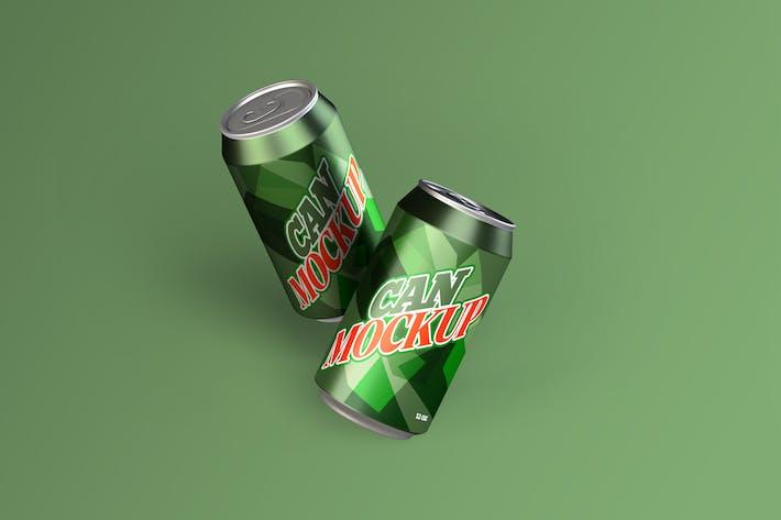Getränkedosen Mockup