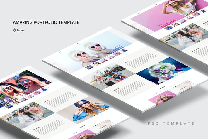 Thumbnail for Amazing Portfolio PSD Template