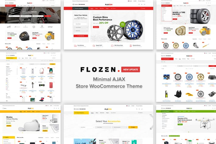 Thumbnail for Flozen - AJAX Car Accessories Theme for WordPress