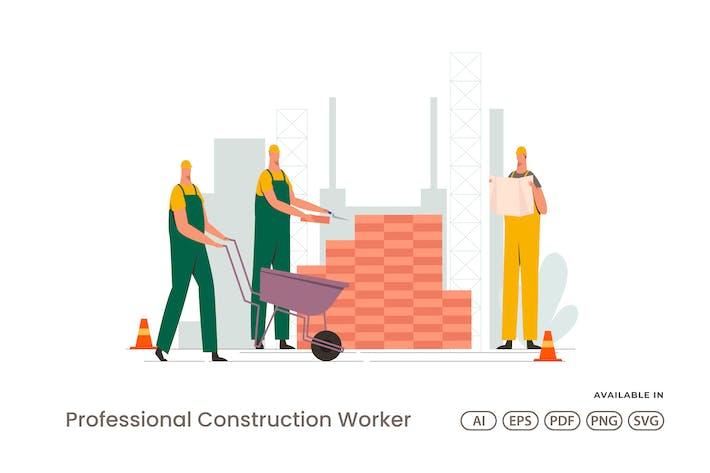 Professionelle Bauarbeiter