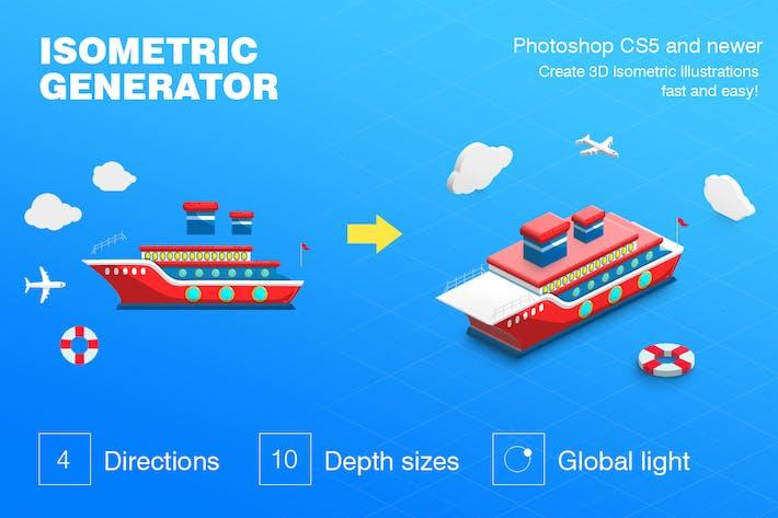 Thumbnail for Isometric Illustration - 3D Generator