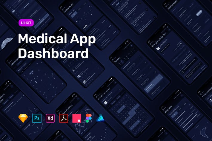 Thumbnail for Dark Medical App Dashboard – MedUX UI Kit