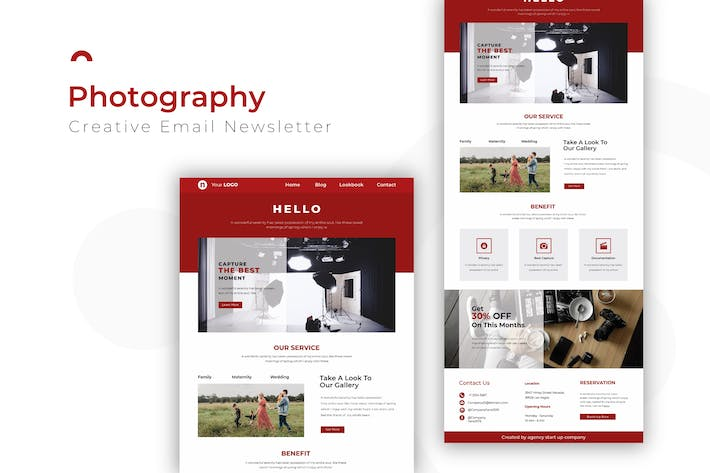 Thumbnail for Photography | Newsletter Template