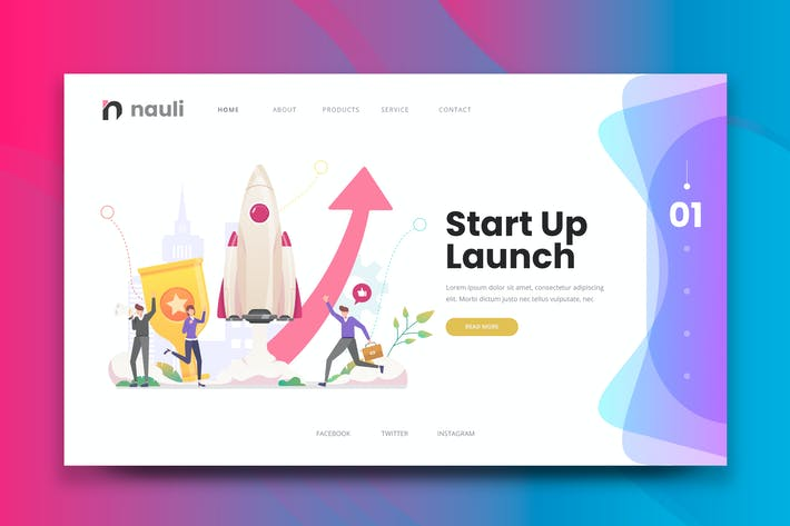 Thumbnail for Business Startup Web PSD und AI Vektor starten