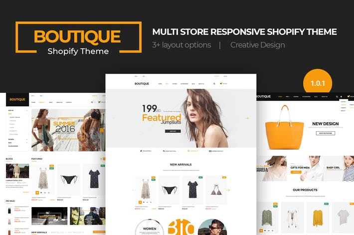 Thumbnail for Boutique | Multi-Store Responsivo Shopify Tema
