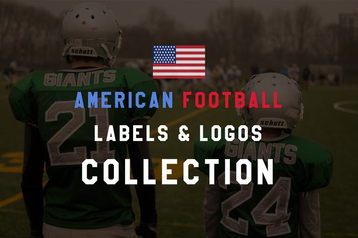 Thumbnail for American Football Logos, Vintage Sports Labels