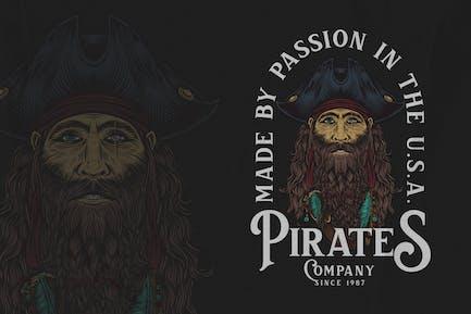 Old Pirates - Piraten-Abzeichen