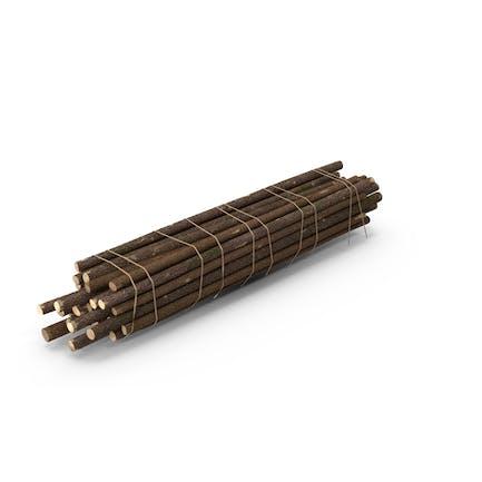 Pila de troncos de madera