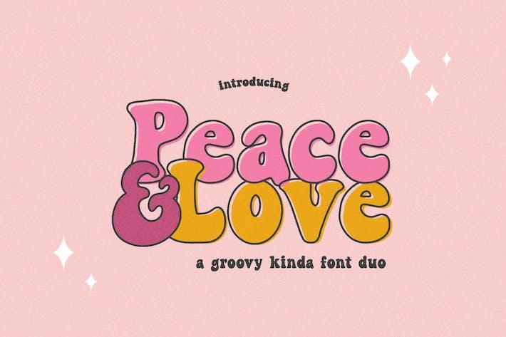 Paz y amor Font Duo