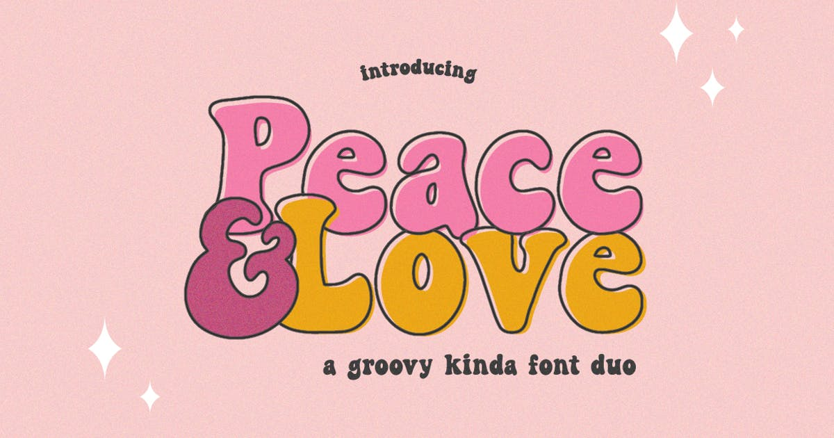 Download Peace and Love Font Duo by maroonbaboon