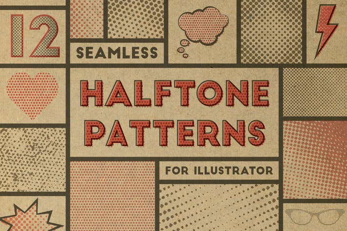 Thumbnail for Seamless Halftone Patterns