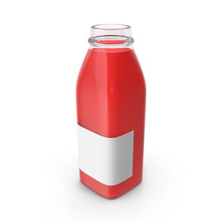 Red Juice Bottle Mockup Open