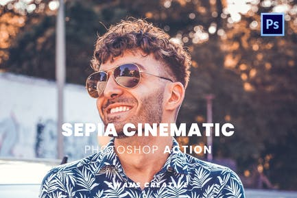 Sepia Cinematic Photoshop Action