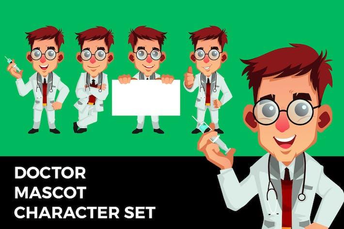 Doctor Mascot Character Set