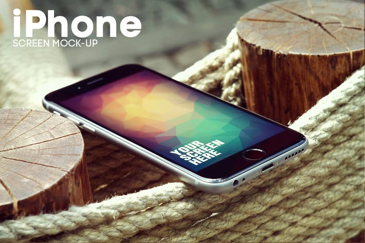 Thumbnail for Rope Fence iPhone 6 Mockup