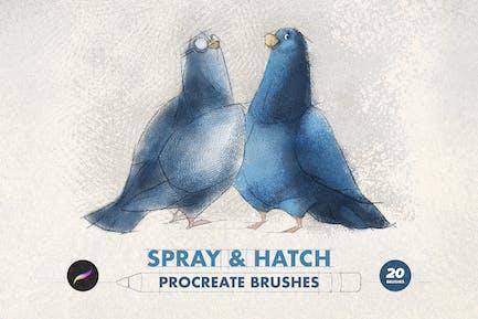 Spray & Hatch Procreate Brushes