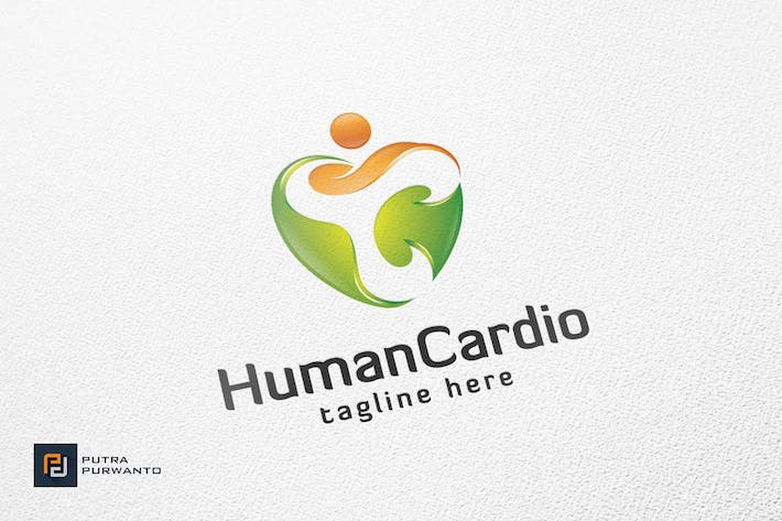Thumbnail for Human Cardio - Logo Template