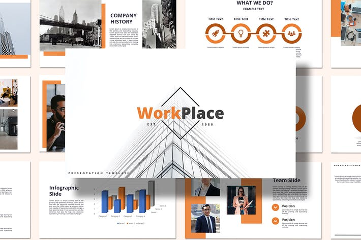 Thumbnail for Work Place - Google Slides Template