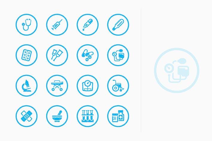 Thumbnail for Medical Equipment & Supplies Icons - Blue Circles