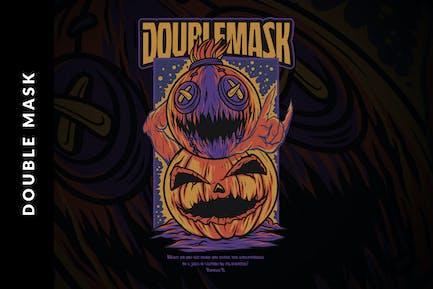 Двойная маска Хэллоуин